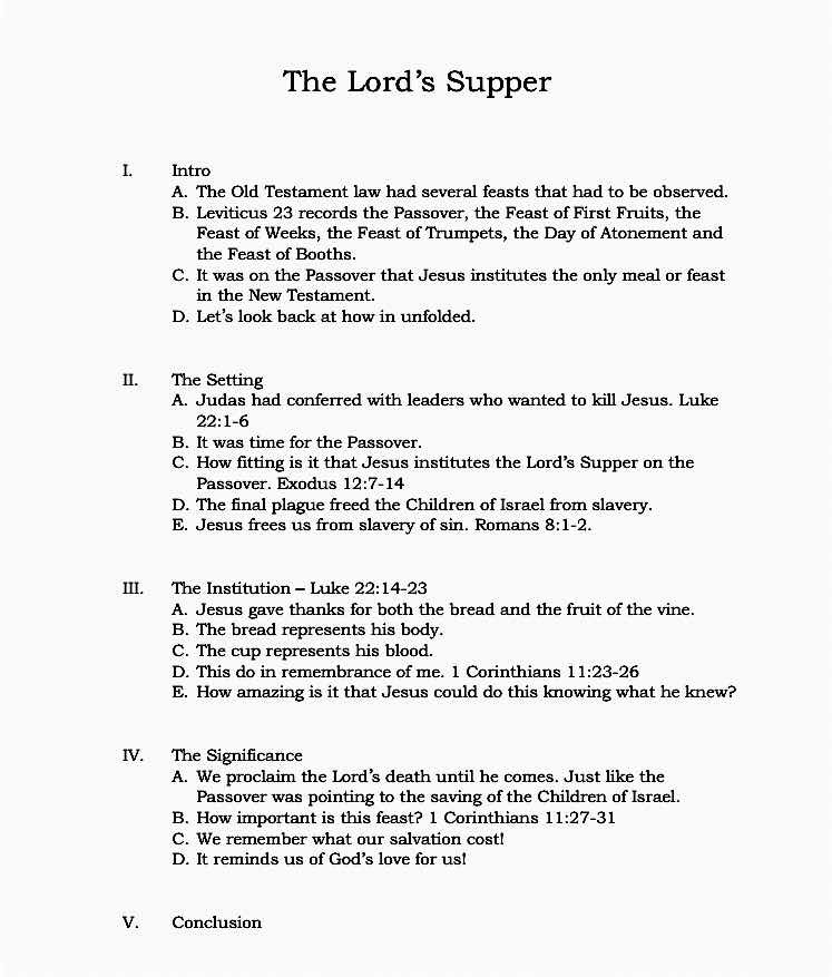 The Lord's Supper – Sweeney Sermons
